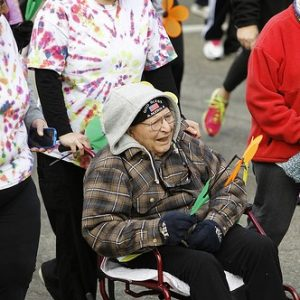 87 year old participates in KC Alzheimers walk