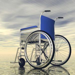 Wheelchair in light