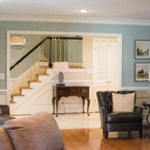 Alzheimer's care home entry & living room